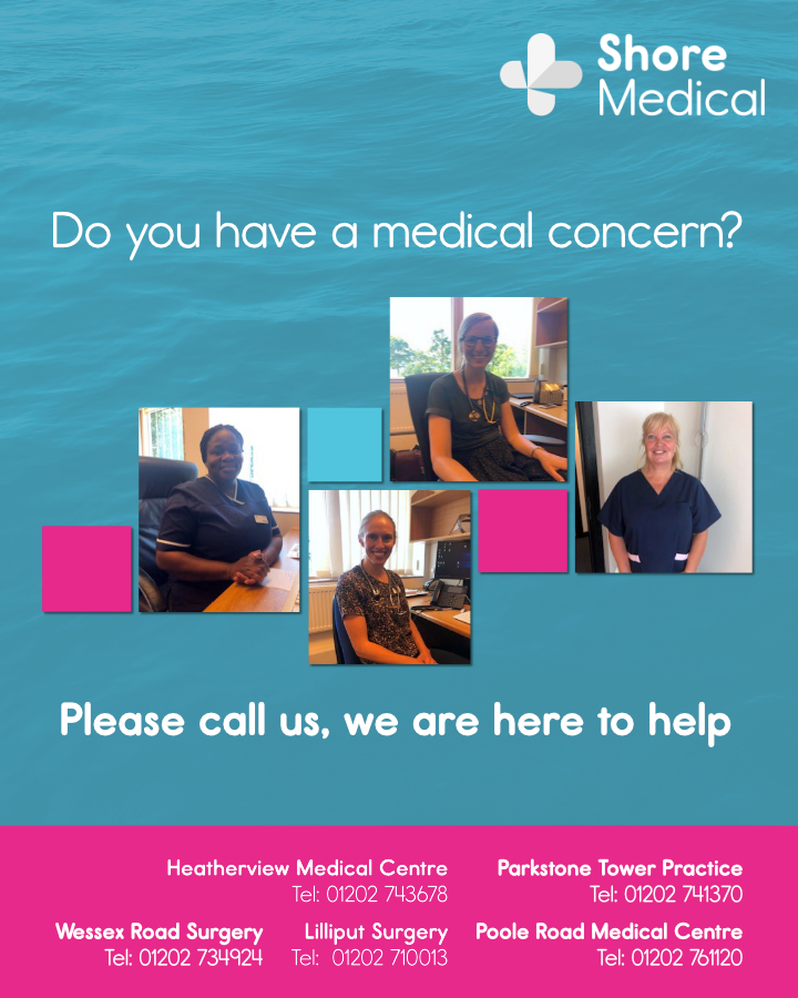 Do you have a medical concern? Please call us, we are here to help.